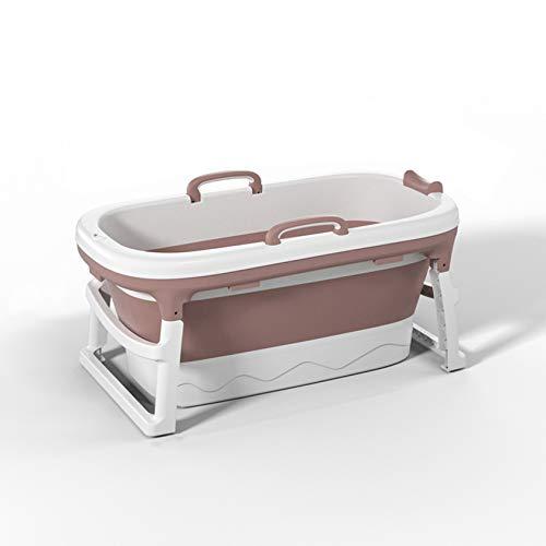 Bañera Bañera para adultos, Bañera plegable para bebés Bañera portátil para bebés y niños pequeños para 0-12 años Lavabo de ducha plegable antideslizante Soporte de baño para,Pink-Without lid