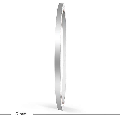 Motoking Zierstreifen, Silber Matt, 7 mm Breite, 10 m Länge, RAL 9007, Aufkleber Folie Auto Boot Motorrad Wohnmobil Wohnwagen & mehr