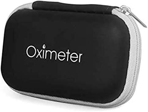 Bolsa de Almacenamiento Portátil para Oxímetro de Dedo, Bolsa de Almacenamiento de Oxímetro de Dedo EVA con Cremallera, Caja de Almacenamiento Protectora de Oxímetro, Protector de Oxímetro de Dedo