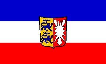 Deutschland, Schleswig-Holstein Deutschland Flagge x3'