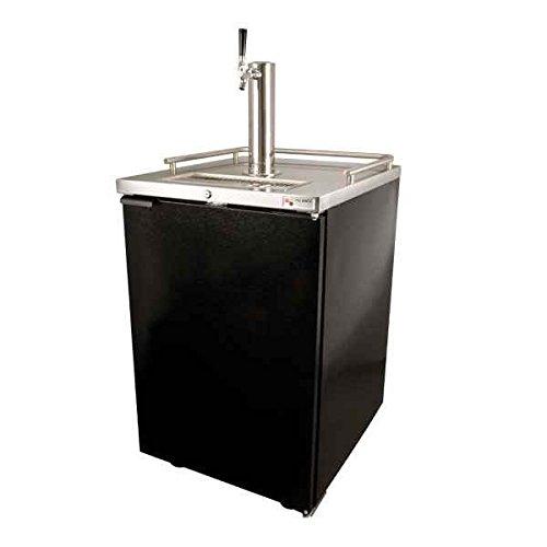 For Sale! Draft Beer Kegerator Dispenser in Black with Glass Rinser
