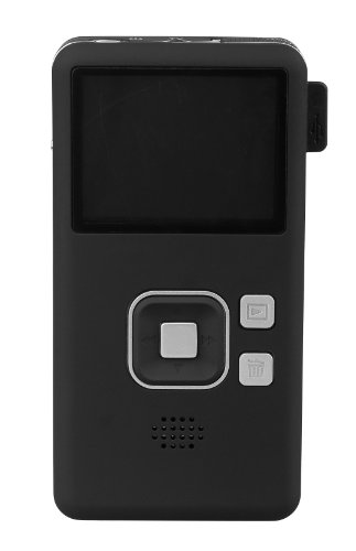 Muvid CLICK Pocket Videokamera (5,1 cm (2 Zoll) LC-Display, One-Touch Recording, einfache Bedienung)