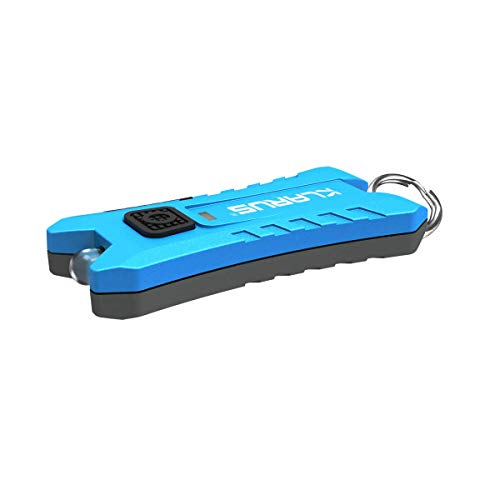 Klarusmi240ルーメン軽量小型USB充電式キーライト2モード切替キーチェーンLEDライトミニLED懐中電灯キーライトIPX4防水キーホルダー付きUSB充電ケーブル付き(Mi2ブルー)