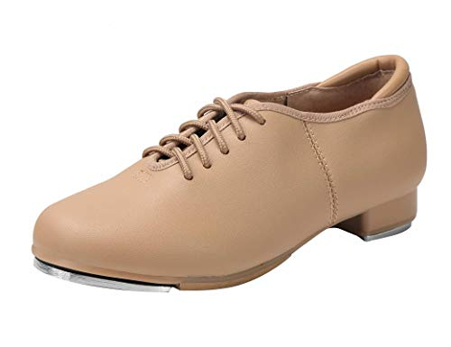 Linodes Unisex PU Leather Lace Up Tap Shoe Dance Shoes for Women and Men's Dance Shoes-Brown-4M