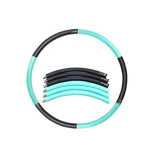 Equipo de Abdomen Adelgazante de Cintura Adelgazante Desmontable, 96 CM de diámetro, Libre de Agregar 2-6 kg, Hula Hoop de Ejercicio físico con Peso, Hula Hoop con Espuma, Aro de Fitness con
