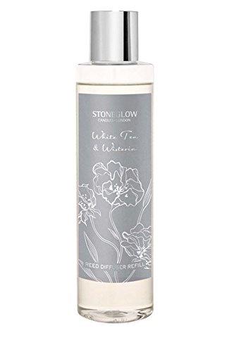 Stoneglow - Difusor de varillas de recambio para té blanco y glicinia (200 ml)