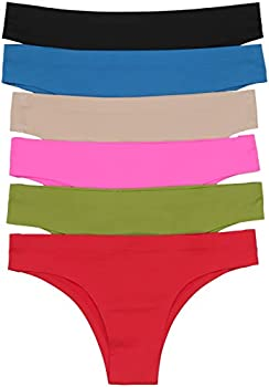 ToBeInStyle Girl Junior Teenage Girls No Show No Panty Line Underwear - Cheeky Thongs - Medium