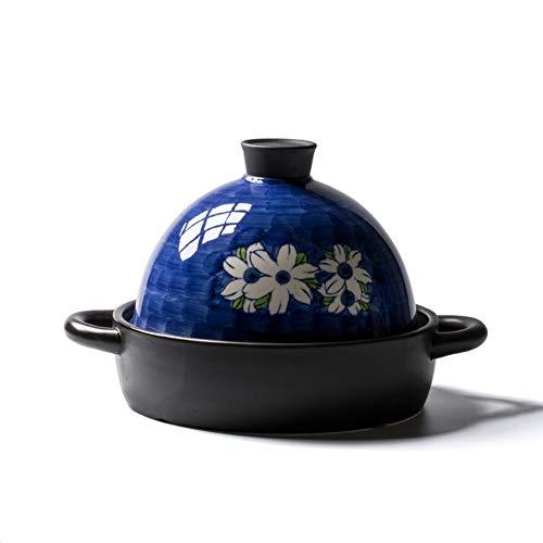 Marokkaanse handgemaakte Tagine Clay keramische pan voor thuis keuken kookpot 22 cm braadpan steen pot blauw