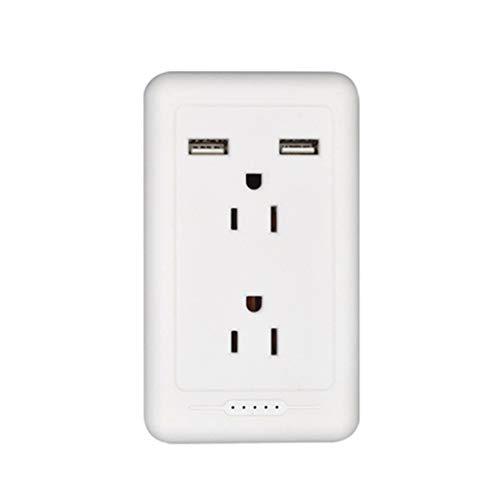 Kdjsic - Toma de panel de pared con doble cargador USB, toma de corriente duplex