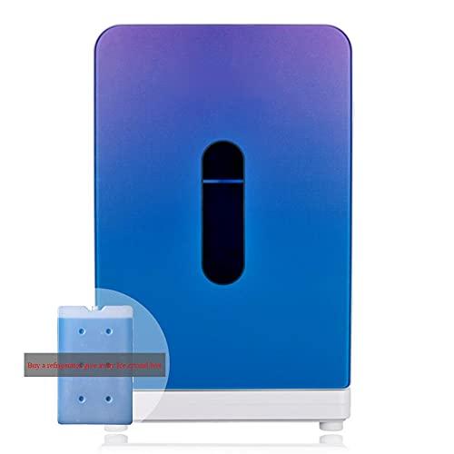 NOVHOME Mini Nevera Portatil para Coche, Nevera Enfriador de 15 Litros de Capacidad 12 V / 220 V Mango Integrado (Comprar Refrigerador Liberarse Cristales de Hielo Caja)