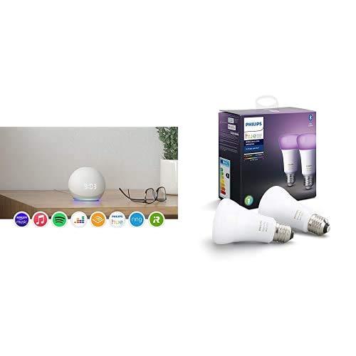 Ganache - White + Philips 2x BLE Color Bulb - E27