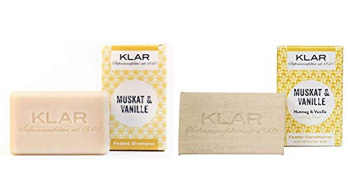 Klar Seifen festes Shampoo Muskat & Vanille, 100 g (Shampoo & Conditioner)
