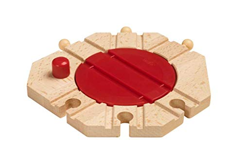 BRIO World - Mechanical Turntable Wooden Train Track for Kids Age 3 Years and Up, Compatible with all BRIO Train Sets