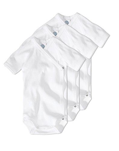 Sanetta - Body - Manches Courtes - Bébé (garçon) 0 à 24 mois, Blanc, 1 mois