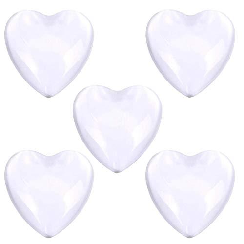 (J) ガラスドームクリアカボションパーツ(ハート型) (サイズ(数量))16mm(5個) レディース アクセサリーパーツ 部品 材料 レジン ペンダント 透明 ミール皿 フレーム ハンドメイド DIY 手芸 人気