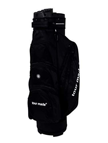 tour made OG14 Organizer Trolleybag Cart Bag Golftasche Modell 2020 (schwarz)