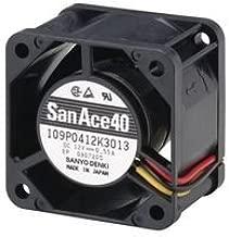Axial Fan, San Ace 40 Series, 12 V, DC, 40 mm, 28 mm, 37 dBA, 11.3 cu.ft/min