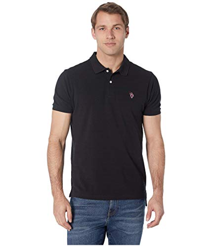 U.S. Polo Assn. Multi Logo Polo Black LG