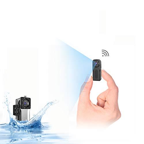 wasserdichte WLAN Mini Kamera, NIYPS Full HD 1080P Akku Überwachungskamera, Mikro WiFi Nanny Cam mit Bewegungserkennung und Infrarot Nachtsicht,Innen/Aussen Wireless Weitwinkel IP Sicherheit Kameras