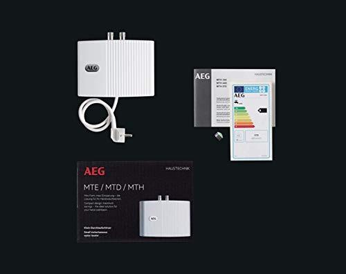 AEG hydraulischer Klein-Durchlauferhitzer MTD 440, 4,4 kW, drucklos und druckfest für Handwaschbecken, 222121 - 4