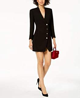BARDOT Womens Black Olivia Blazer Long Sleeve V Neck Micro Mini Cocktail Dress US Size: 6