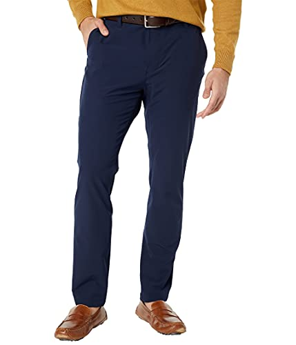 Nautica Pantalón Navtech Slim Fit para Hombre, Azul Marino/Flor y Brillo, 34W x 32L