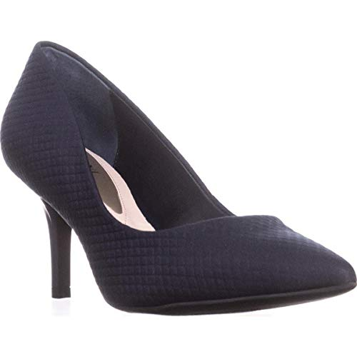 Price comparison product image Alfani Womens Jeules Pointed Toe Classic Pumps,  Navy Texture,  Size 5.5