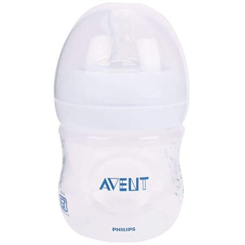 Philips Avent SCF690/17 Biberon Natural Anticoliche per Allattare in Modo Naturale, 125 ml, Trasparente