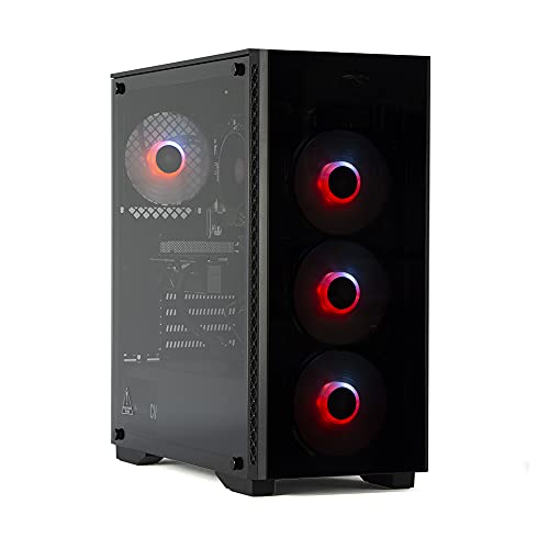 MAK CATASTROPHE - Ordenador Gaming RYZEN 3 3100 3,90 GHz, GTX 1650 4 GB STRIX, SSD Nvme 250 GB + HDD 2 TB, RAM 8 GB 3200 MHz, ordenador de gaming DESKTOP, Windows 10 PRO