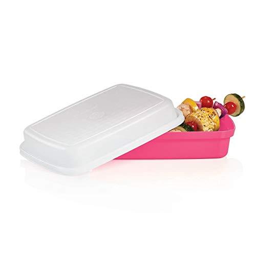 NewTupperware SMALL Season Serve Jr Marinade Keeper Container Pink