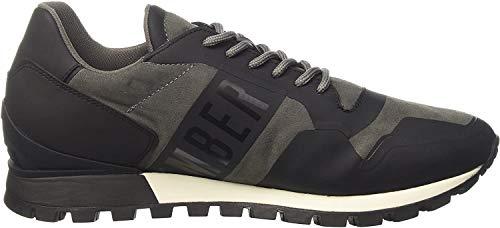 BIKKEMBERGS Herren Fend-ER 944 Sneaker mit niedrigem Schaft, Grigio Grey, 41 EU