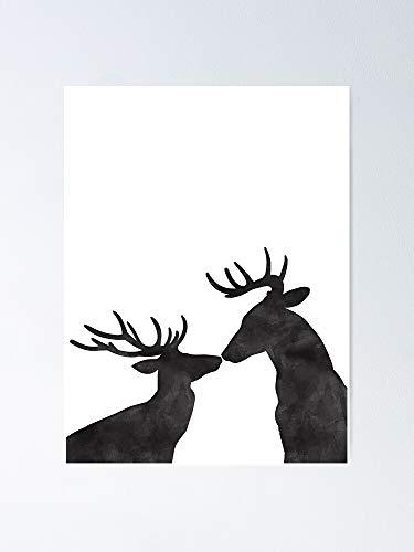 AZSTEEL Season's Kissings Poster No Frame Board For Kid 11.7x16.5 Inch