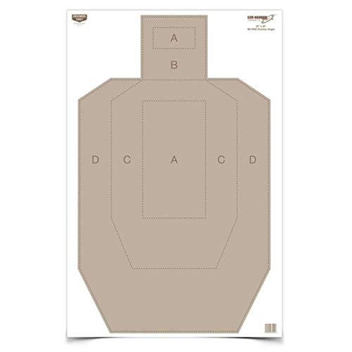 Birchwood Casey Eze-Scorer IPSC Practice Target (Per 5), 23 x 35-Inch by Birchwood