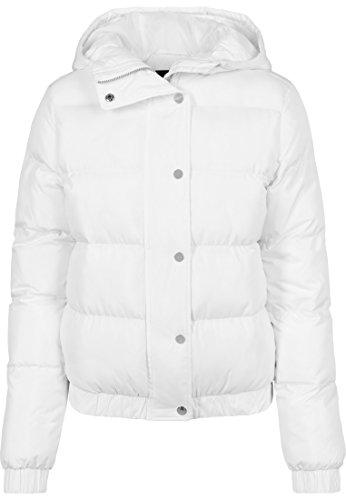 Urban Classics Damen Winterjacke Ladies Hooded Puffer Jacket, gefütterte Jacke für Herbst und Winter mit Kapuze, Daunenjacke - Farbe white, Größe L