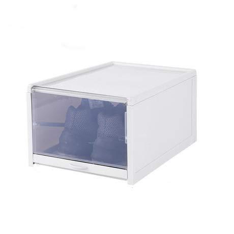 ZDZQTM Caja de Zapatos Plegable Tipo cajón Caja de Almacenamiento de Zapatos Transparente Engrosada Ahorre Espacio Organizadores de gabinete de Zapatos de plástico abatible apilable