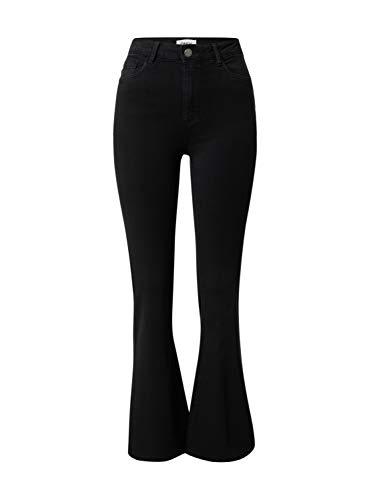 ONLY Damen ONLHELLA Life HW Retro Flared BB PJ008 Jeans, schwarz, L/30