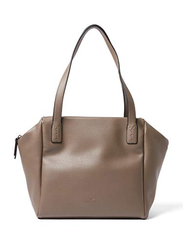 TOM TAILOR Shopper Damen Lilia, Beige (Taupe), 15.5x26x40 cm,Tasche Damen