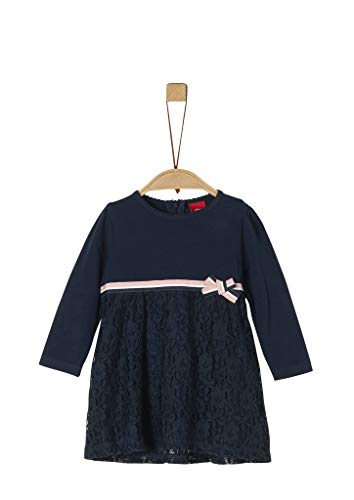 s.Oliver Baby-Mädchen 59.911.82.2934 Kleid, Blau (Dark Blue 5952), (Herstellergröße: 80)