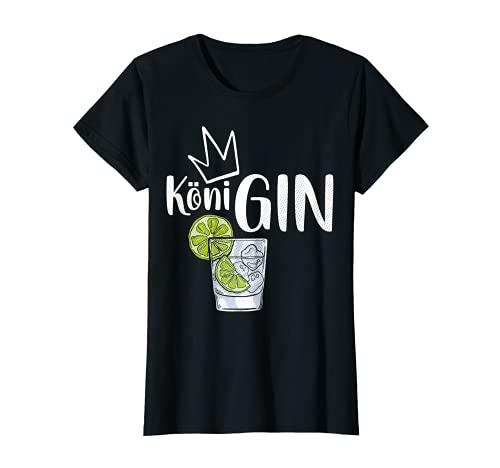 Damen GIN KöniGIN - Geschenk Idee für Gin Verkostungen T-Shirt