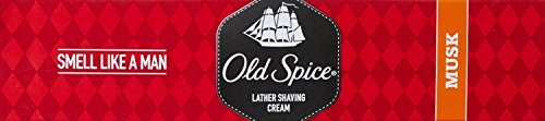 OLD SPICE LATHER SHAVING CREAM - MUSK - 70g X 4