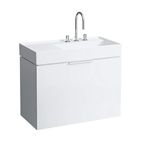 Laufen Kartell Waschtisch, unterbaufähig, Ablage Links, 1 Hahnloch, ohne Überlauf, 900x460, Farbe: Grau matt