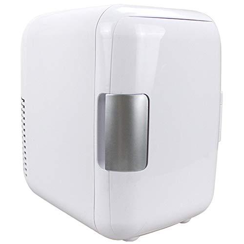 Refrigerador de automóviles, 2 en 1 Dual Uso 4L Mini 12V Bebidas Refrigerador Caja de refrigerador Congelador Levante al Aire Libre Viajes de Picnic,Blanco