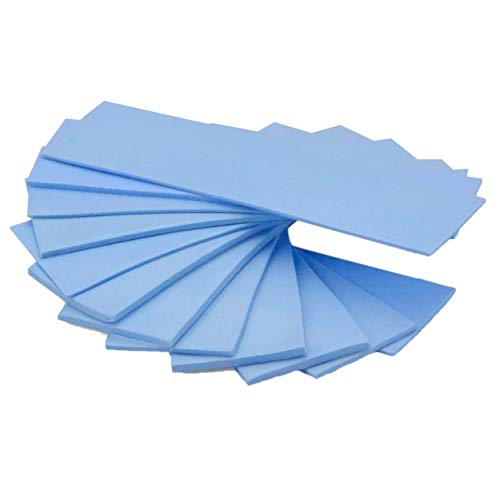 Viudecce Paquete de 12 Almohadillas de Silicona Termoconductoras con Conductividad TéRmica de 6.0W / MK, Adecuado para Laptop, DVD, VCD, Tapa LED, Azul