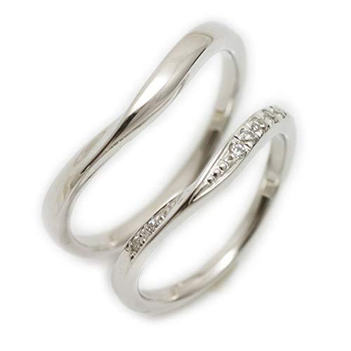 [ココカル]cococaru ペアリング 2本セット プラチナ Pt900 マリッジリング 結婚指輪 ダイヤモンド 日本製 】(レディースサイズ9号 メンズサイズ3号)