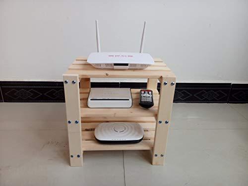 XINGPING-Shelf Ruteador inalámbrico de múltiples Capas de Madera Maciza Rack de enfriamiento Socket de Fila Rack de Almacenamiento de Escritorio TV en Red Decodificador (Tamaño : XL)