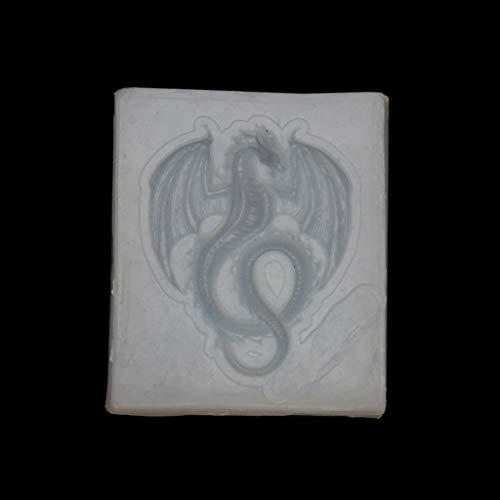Wuweiwei12 Silikon-Form für Fondant, 3D-Tiere, fliegender Drache, Kunstharz, Schokoladenform, 1 Stück