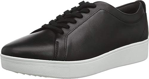 FitFlop Women's Rally Sneakers, Black, 8 M US