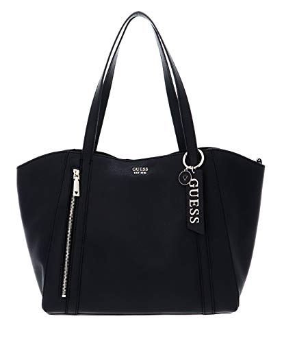 Guess NAYA Trap Tote, Bags Crossbody Donna, Black, One Size