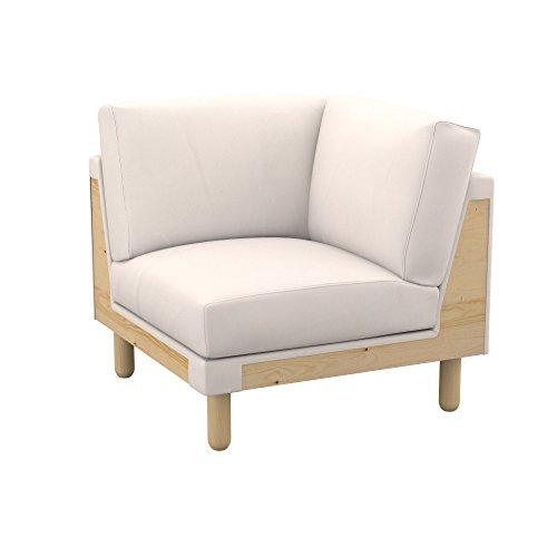Soferia - IKEA NORSBORG Funda para módulo de Esquina, Eco Leather Creme