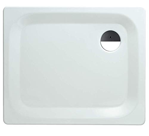 'aquaSu® Stahl-Brausewanne Excellence   Extra flach   90 x 75 x 2,5 cm Weiß